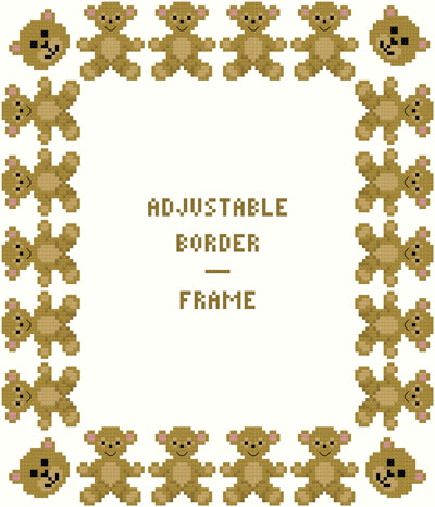 Teddy Bear Borders/Frame - Adjustable by Susan Saltzgiver Designs